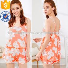 Lindo estampado floral correa de espagueti ropa de noche pijamas de verano Fabricación venta al por mayor ropa de mujer de moda (TA0002P)