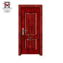 Nouveau modèle de porte de chambre à coucher en bois en acier qui respecte l'environnement