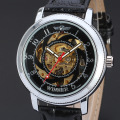 wholesale winner men mechanical movement watch with leather band