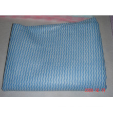 tela no tejida ondulada spunlace para paño de limpieza desechable