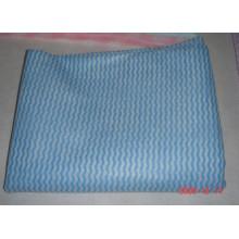 tecido não tecido ondulado do spunlace para o pano de limpeza descartável