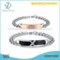 Stainless steel lover bracelets bangle