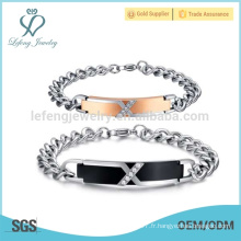 Bracelets amateurs en acier inoxydable bracelets
