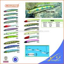 MNL064 60mm / 80mm / 110mm vib señuelo de la pesca de plástico señuelo de la pesca de metal estampado señuelos de pesca