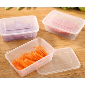 Eliminação quadrada da microonda do recipiente de alimento 1000ml da eliminação dos PP