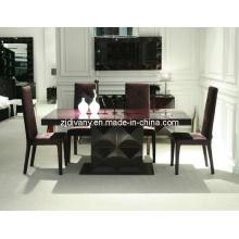Moderno alto brillante pintura madera mesa de comedor (LS-201A)