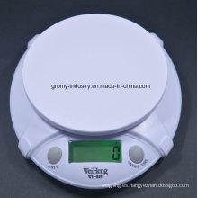 Escala electrónica digital de la cocina con el tazón de fuente B09