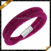 Hot Sale Stardust Mesh Fashion Bracelets with Crystal Stones Filled Magnetic Clasp Charm Bracelets Bangles (FB0129)