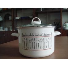 the enamel stock pot