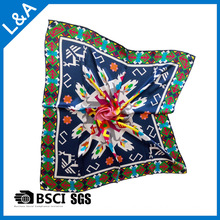 12mm Large Square Silk Scarf Digital Printing, Hand Crimping