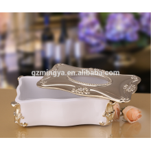 Luxury resin tissue paper box,decorative indoor statues,resin art tissue box holder