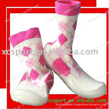 soft PVC sole baby shoe socks