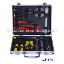 forte & portable aluminium outil cas avec outils magasin système à l'intérieur