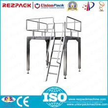 Plataforma de trabajo de arriba del acero inoxidable para la máquina de embalaje (línea de embalaje)
