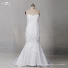 TW0172 Sweetheart Simple Plus Size Elegante vestido de noiva de sereia