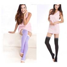 Mulheres emagrecimento perna dormindo meias longas meias joelho (sr8225)