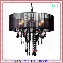 2011 Black Crystal Pendant Light Black and Red Crystal