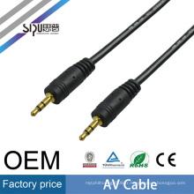 SIPU bonne qualité 3.5mm av sex vidoes câble en gros câble meilleur prix mâle à mâle AV câble