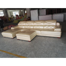 Europe Type Top Grain Genuine Leather Sofa (A816)