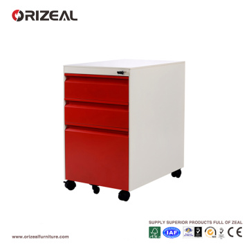 Mobile Pedestal Metal File Cabinets on Wheels