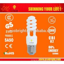 T2 SKD 11w metade poupança de energia espiral luz 10000H CE qualidade