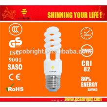 QUENTE! T2 Meia espiral CFL lâmpada 13W 10000H CE qualidade
