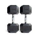 50LB Black Hex Dumbbell