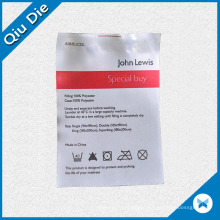 Printing White Satin Care Labels for Home Textiles/Garment