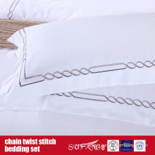 Chain Twist Stitch Bedding Set Classical Design Hotel Linen