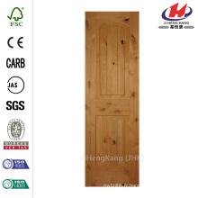 24 po x 80 po. Panneau à 2 panneaux Inachevé en acier inoxydable inachevé en acier inoxydable Knotty Alder Single Prehung Intérieur Door