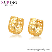 97028 Xuping Fashion 24K gold Plated costume fashion Huggie earrings