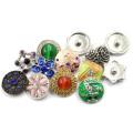 Coloridos moda cambiable botón de presión para pulsera y brazalete