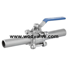 3PC Long Extended Weld Ball Valve