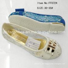 Heiße Verkaufs-Kind-Prinzessin-Schuhe flache Schuhe Hefterzufuhr (FF0724)