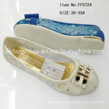Hot Sale Kids Princess Shoes Flat Shoes Slipper (FF0724)