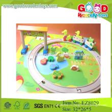 Дети треки игрушки деревянные треки игрушки мультфильм трек игрушки