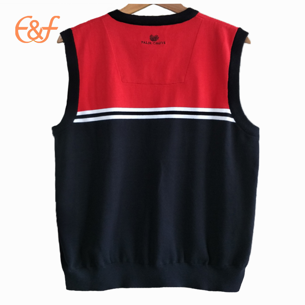 Mens Sleeveless Cotton Sweater Vest