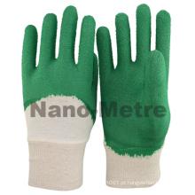 NMSAFETY revestimento de látex verde forro de algodão luvas de látex revestidas / luva de trabalho / luva de segurança