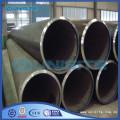 Tubo de acero negro industrial