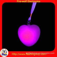 Pvc Customized Valentine Led Holiday Decorations-3 Led Flashing Heart Necklace Hl-c33