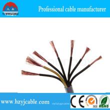 Электрический кабель Kvv Кабель управления PVC Кабель управления Multi Core 3X0.75mm2 5X1. Mm2 7X 1,5 мм2