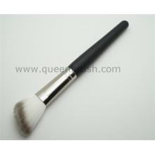 Holzgriff abgewinkeltes Synthetikpulver Kosmetik Make-up Pinsel
