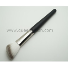 Wood Handle Angled Synthetic Powder Cosmetic Makeup Brush