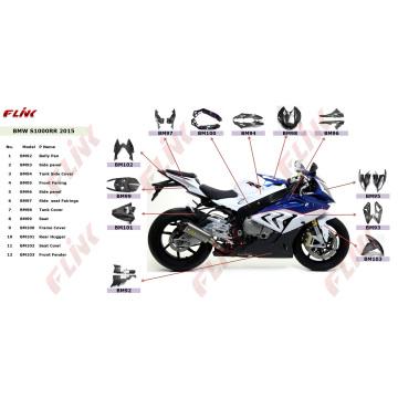 Pièces de fibre de carbone pour moto BMW S1000rr 2015