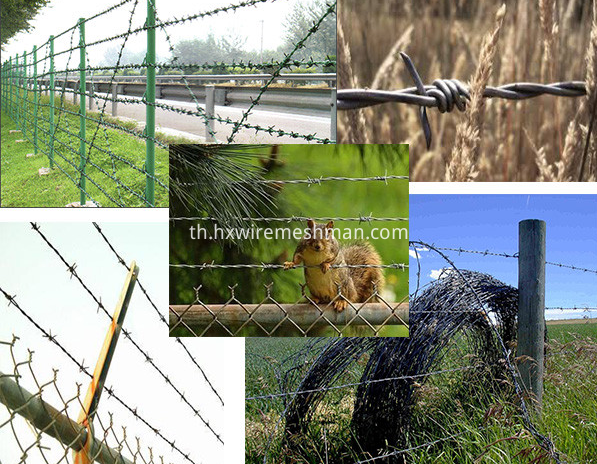 barbed wire application