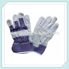 wholesale China directly imported grey cowhide split leather patch palm industrial safety glove