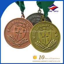 Wholesale price and custom primary school catholic award medal