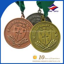 Preço de atacado e medalha de prêmio católico primário personalizado