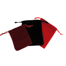 Fashionable Suede Jewelry Gift Pouches (P-RBB-V)