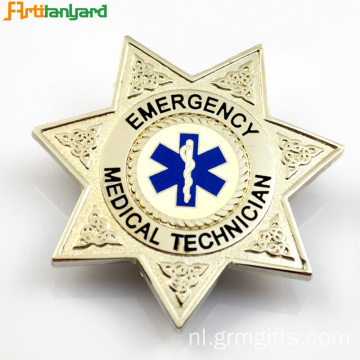 Aangepaste Metalen Badge Met Embossed Logo